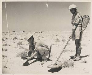 mine detector in use in africa
