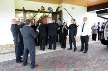 metal detector funeral