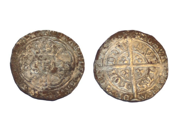 Edvard IV hammered medieval silver coin