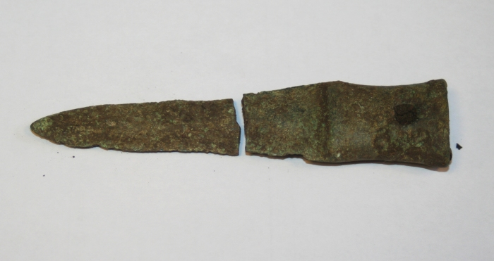 bronze age socketed knife metal detecting