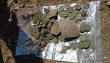 roman coins hoard found in school