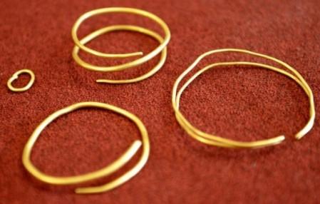 gold bracelets treasure artefacts