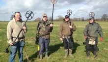 detectorists with xp deus metal detectors