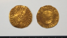 Elizabeth 1 half crown gold hammered