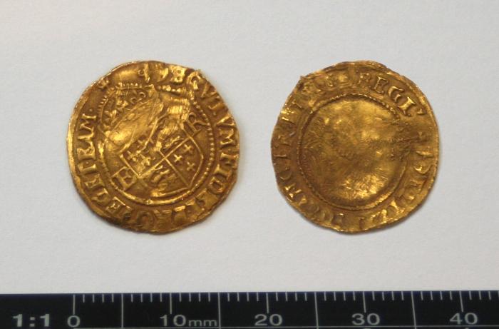 Elizabeth 1 half crown gold hammered
