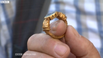 roman gold ring Ireland