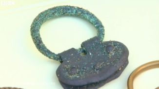 roman silver buckle metal detecting