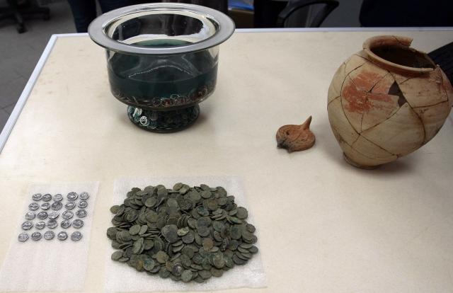 Silver Treasure coins hoard